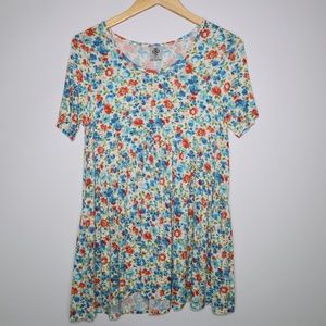 Agnes & Dora Over sized Floral Blouse Tunic S